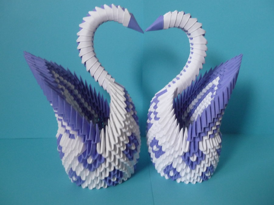 How To Make A Swan From Paper Triangles Modular Origami Swan